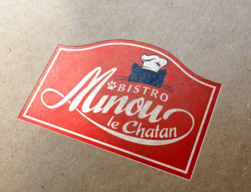 店舗ロゴ・看板デザイン  Bistro Minou Le Chatan