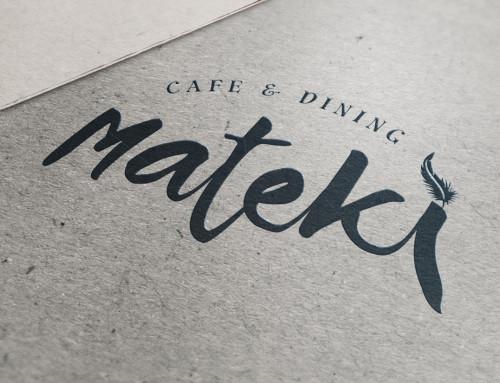 ロゴデザイン Cafe&Dining mateki