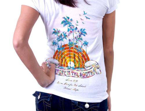 オリジナルTシャツ 「SUNSET IN THE SOUTH」