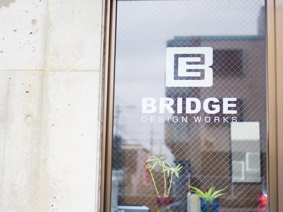 BRIDGE オフィス窓へのカッティングシート