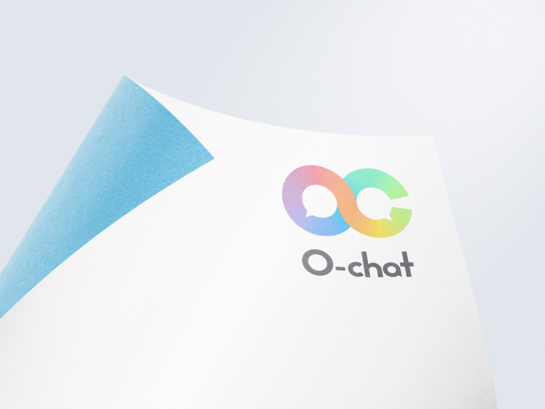 チャットボット簡単構築プラットフォーム「O-chat」ロゴデザイン