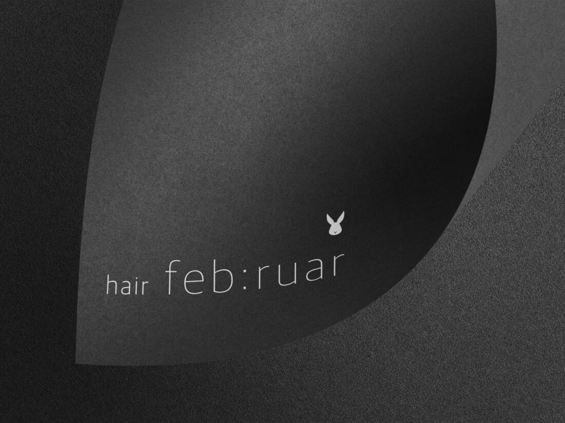 ロゴデザイン hair feb:rual