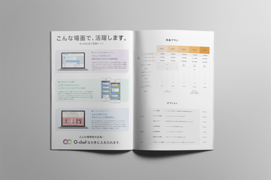 O-chat パンフレット 表紙 P6_P7