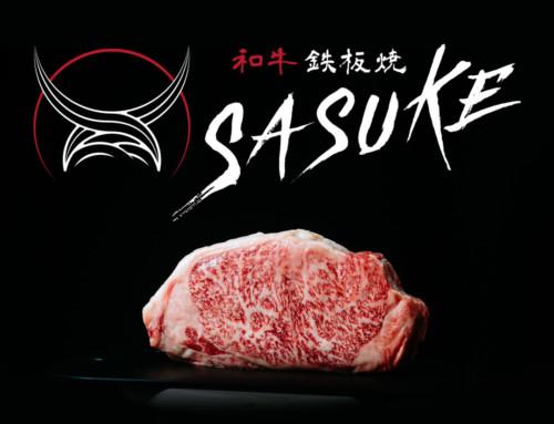 ロゴデザイン&飲食店ガイドマップ広告デザイン:和牛鉄板焼SASUKE