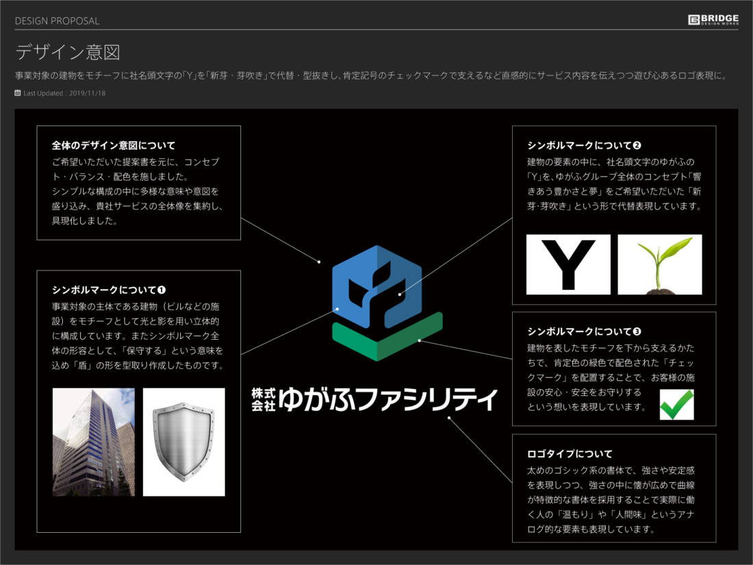 株式会社ゆがふファシリティ ロゴデザイン