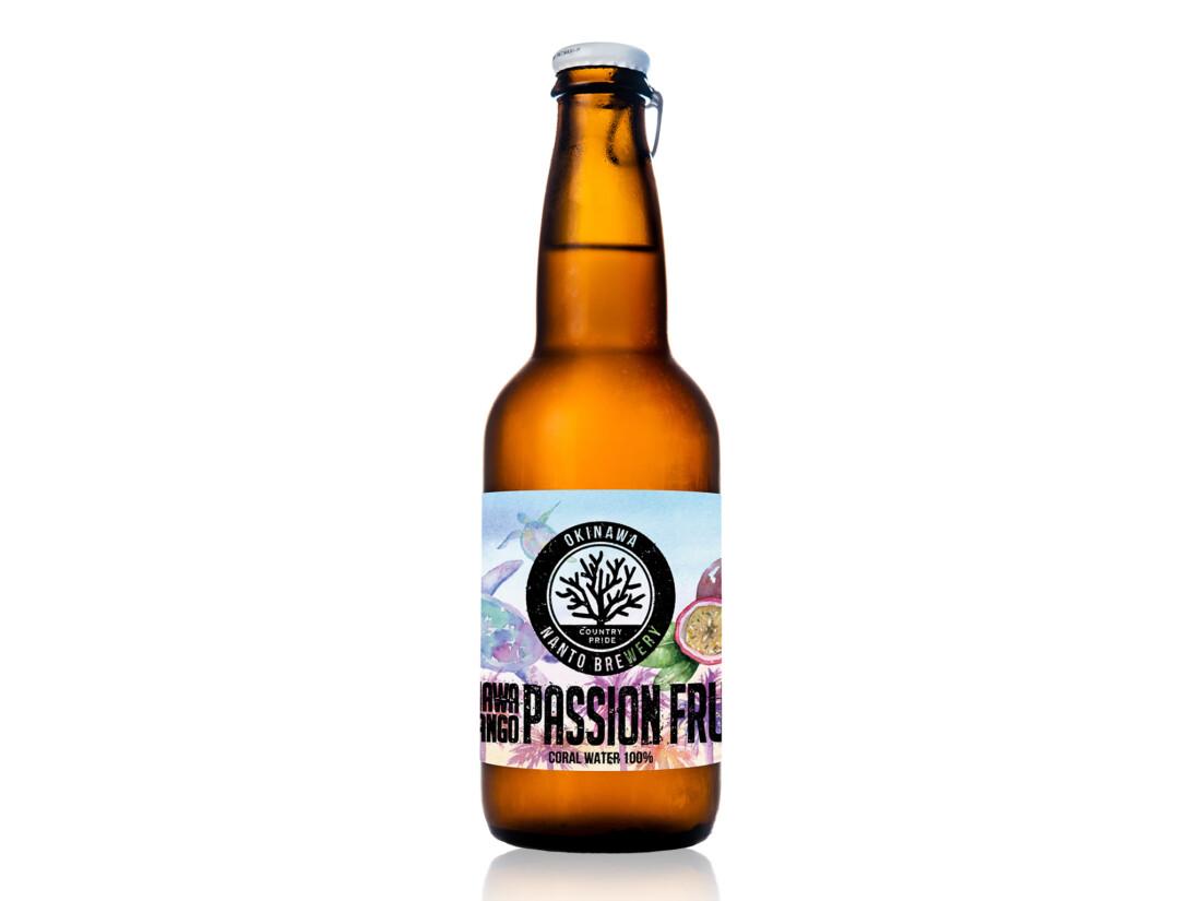 沖縄サンゴビール「パッションフルーツ」 ラベルデザイン